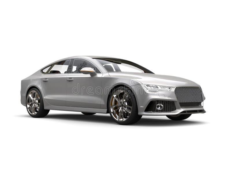 Tiro automobilístico da beleza do negócio de prata claro moderno ilustração do vetor