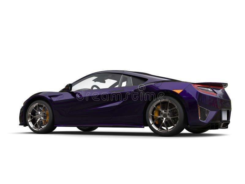 Tiro automobilístico da beleza dos esportes super roxos escuros impressionantes ilustração do vetor