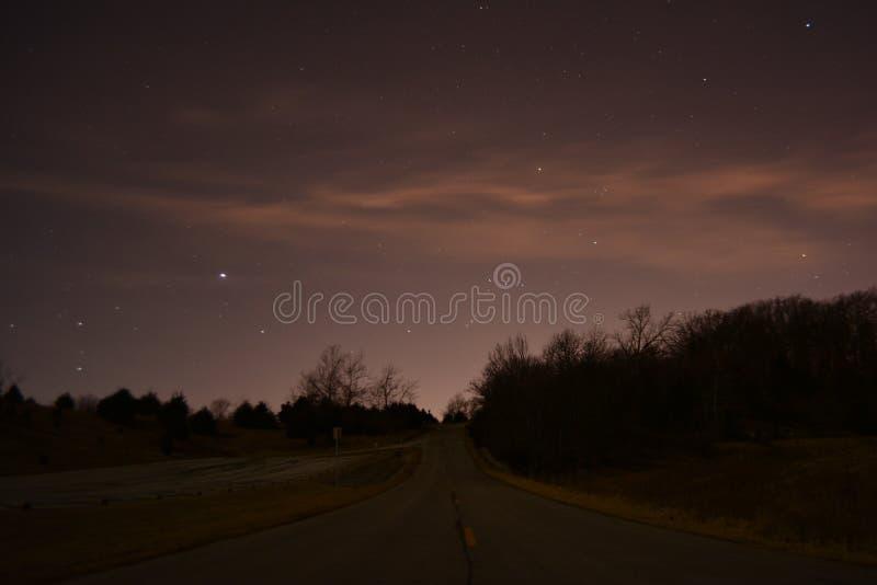 Tiro Blue Springs da noite imagens de stock