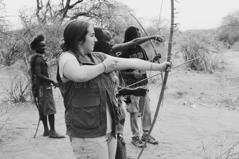Tiro con l'arco africano fotografie stock libere da diritti