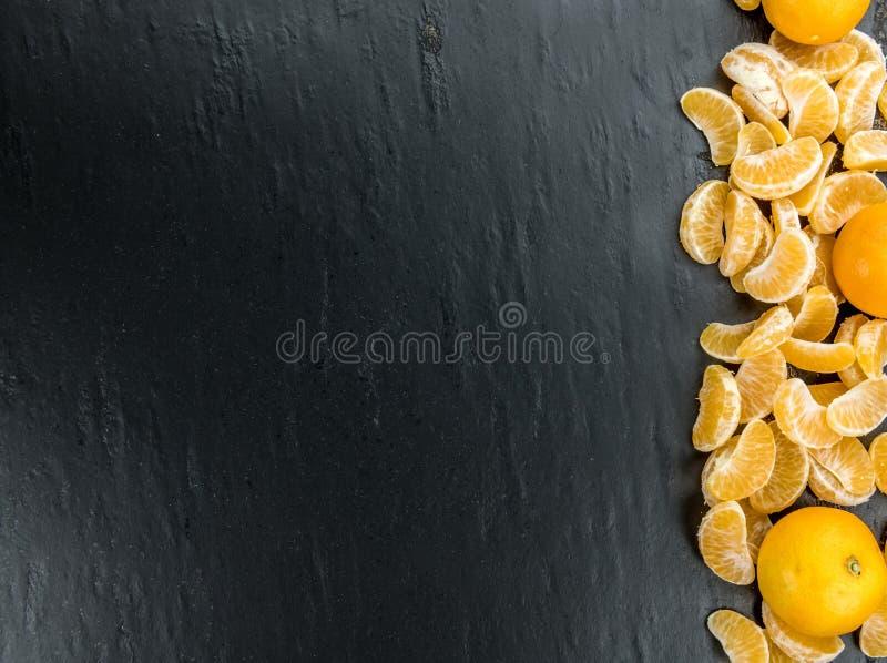 Tiro cru do close-up das tangerinas fotos de stock