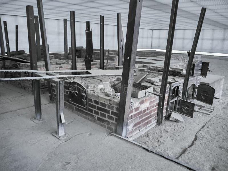 Tiro das ruínas de um cremator fotografia de stock royalty free