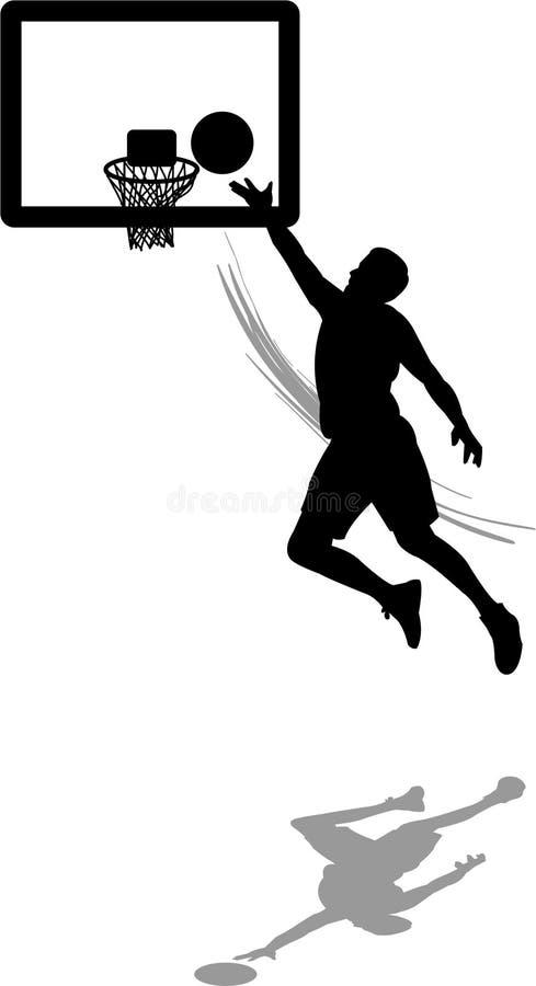 Tiro de basquetebol ilustração royalty free