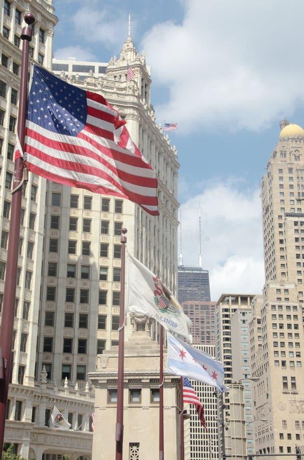 Tiro de la ciudad de Chicago imágenes de archivo libres de regalías