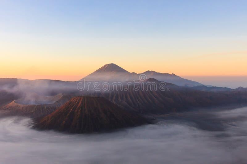 Tiro de la mañana de Gunung Bromo, Java, Indonesia fotos de archivo libres de regalías
