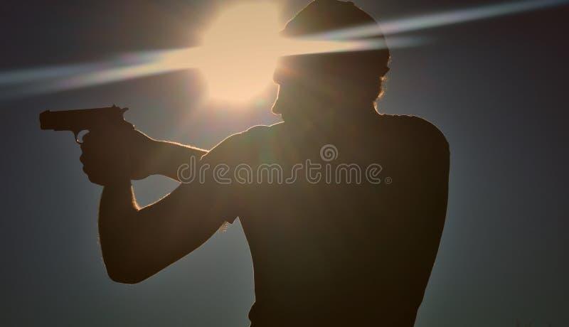 Tiro de la puesta del sol foto de archivo