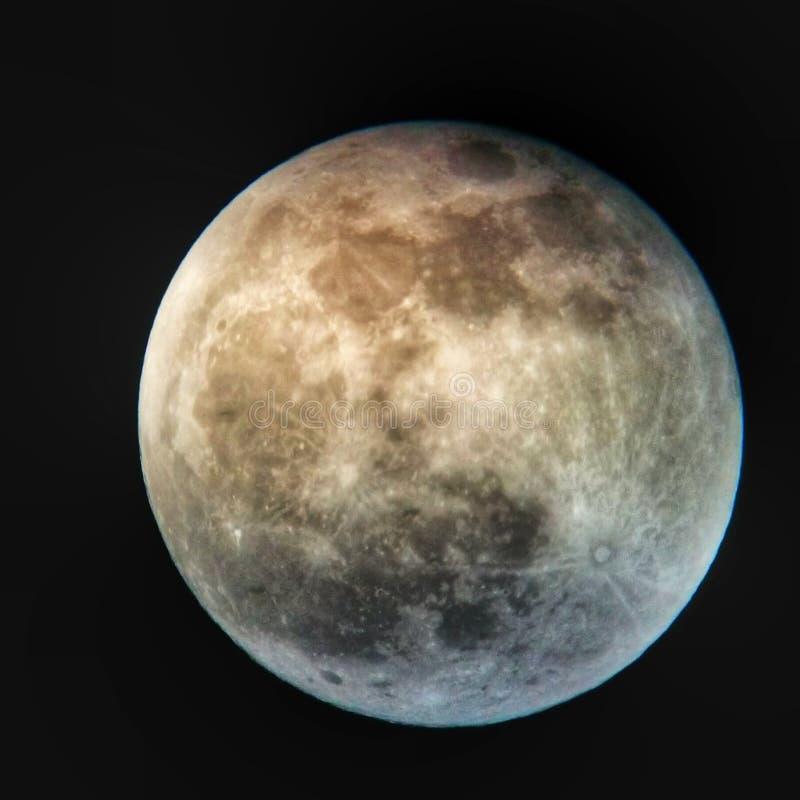 Tiro de Lua cheia imagens de stock