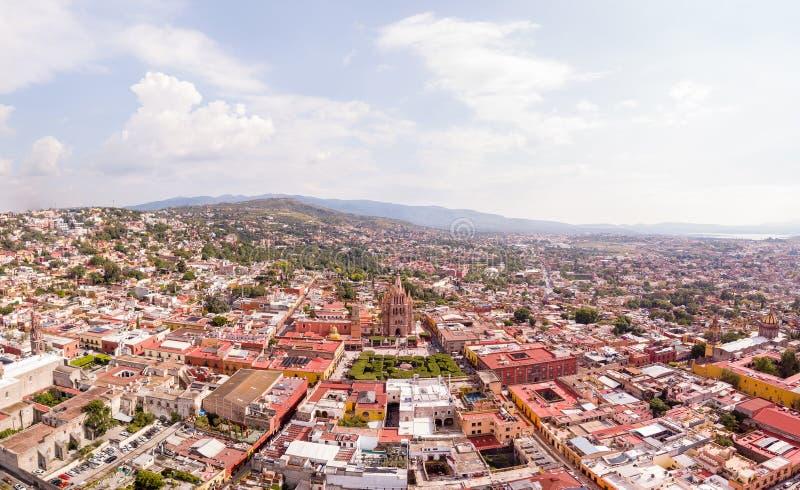 Tiro de San Miguel de Allende Aerial foto de archivo
