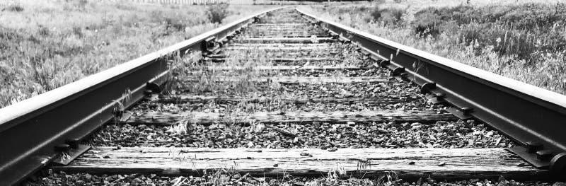 Tiro del ángulo bajo de la pista de ferrocarril fotos de archivo