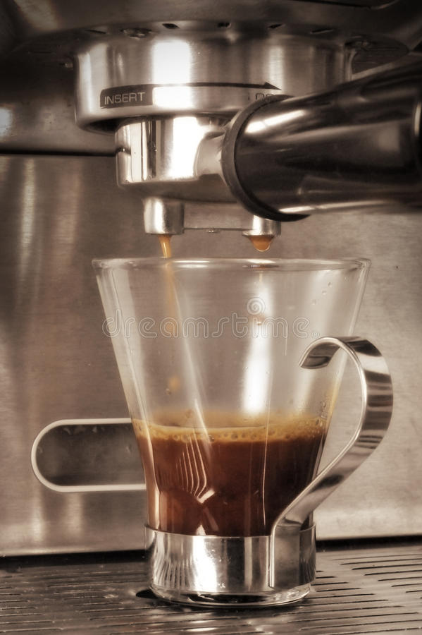 Tiro del café express fotografía de archivo libre de regalías