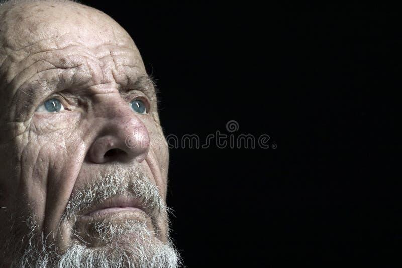 Tiro del fronte dell'anziano 2 fotografia stock libera da diritti