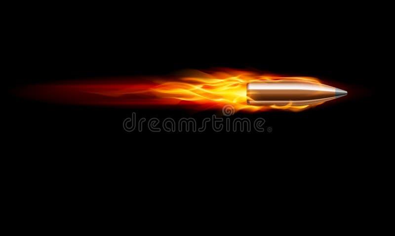 Tiro del punto negro del arma stock de ilustración