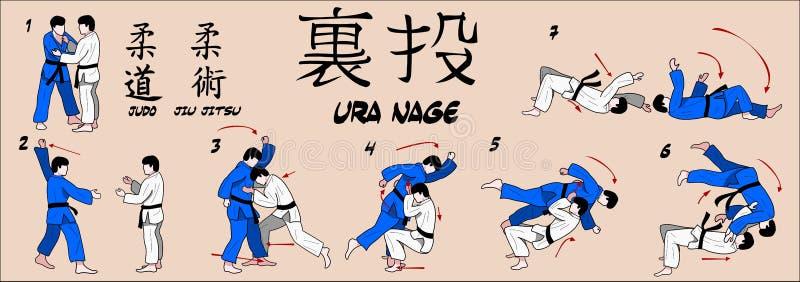 Tiro della parte posteriore di judo royalty illustrazione gratis