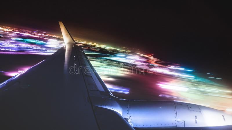 Tiro do avião imagem de stock