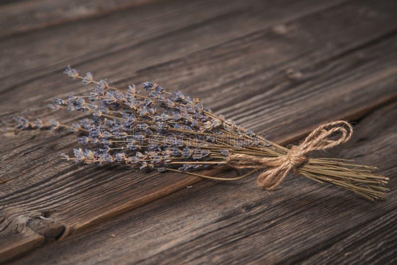 Tiro do close-up do ramalhete secado da alfazema fotografia de stock royalty free