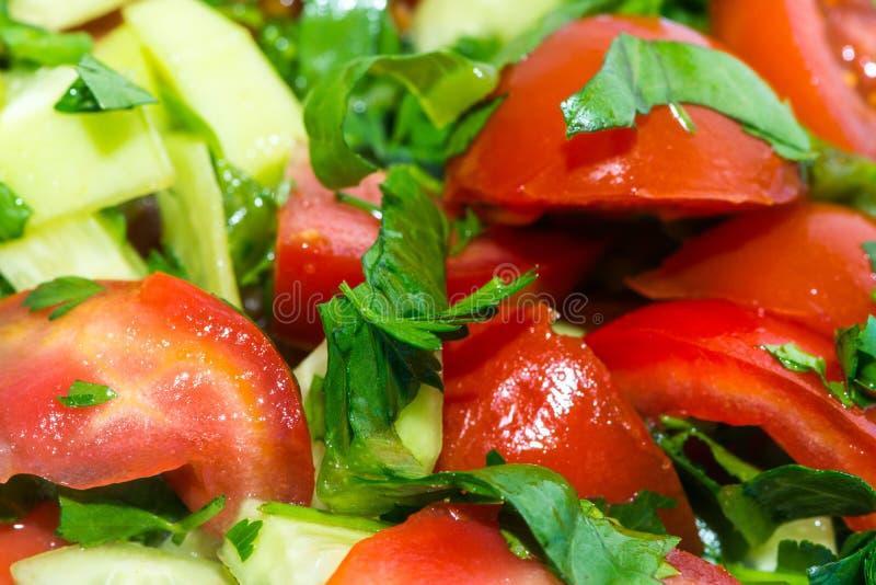 Tiro do close up do salat dos legumes frescos imagens de stock royalty free