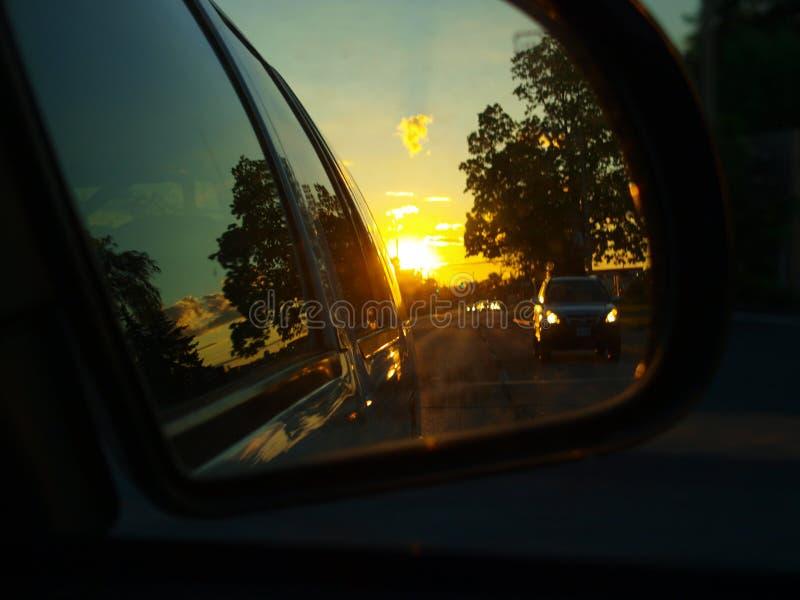 Tiro do espelho de Rearview fotos de stock
