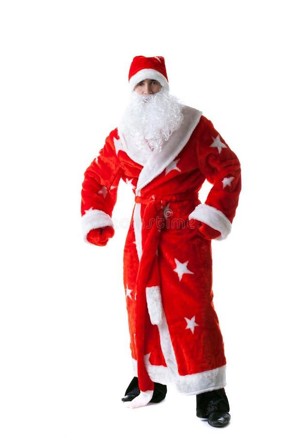 Tiro do estúdio do homem vestido como Santa Claus imagens de stock