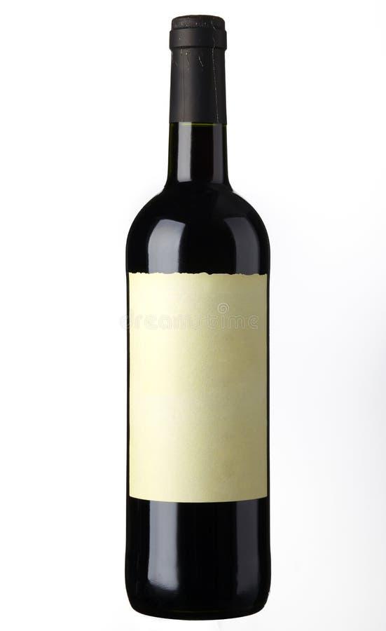 Tiro do frasco de vinho vermelho imagem de stock