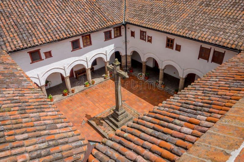 Tiro espetacular da igreja Quito de San Diego foto de stock royalty free