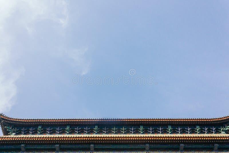 tiro horizontal da porta Qianmen de Zhengyangmen situado no sul da Praça de Tiananmen foto de stock royalty free