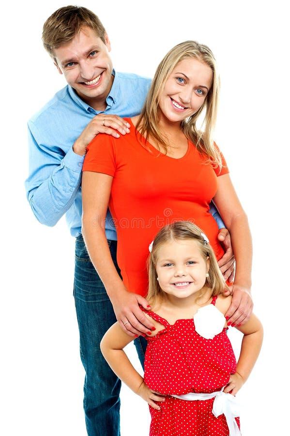 Tiro instantâneo de uma família completa imagens de stock