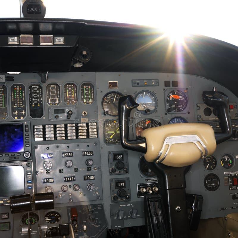 Tiro interior de um avião. foto de stock royalty free