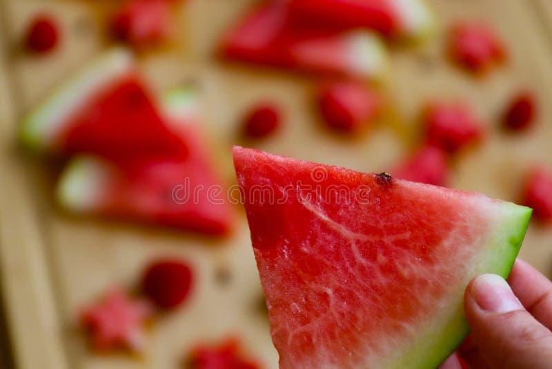 Tiro macro da melancia, lotes da melancia no fundo foto de stock royalty free