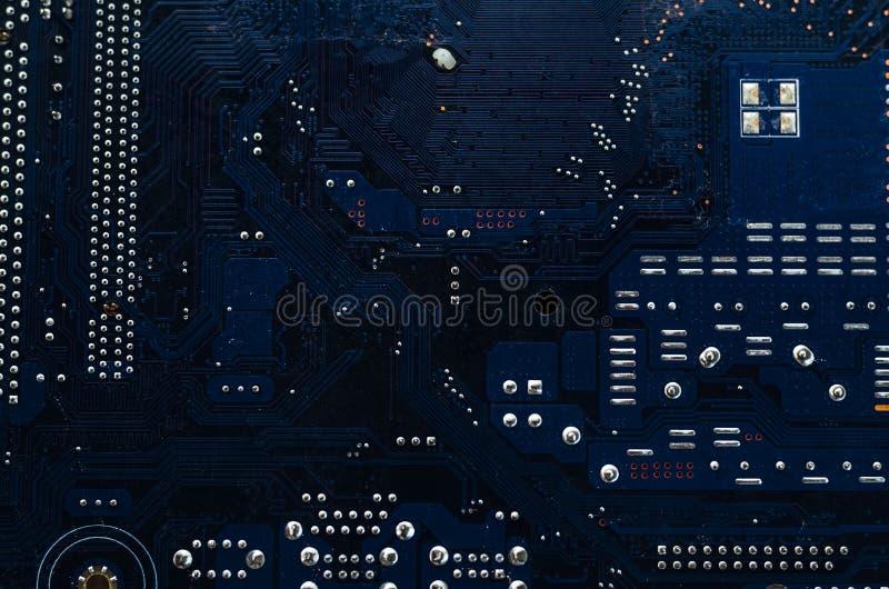 Tiro macro de uma placa de circuito suja imagem de stock