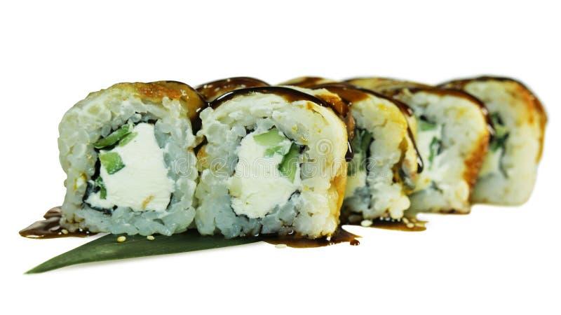 Tiro macro del sushi Restaurante japonés, sushi, tradición oriental fotografía de archivo libre de regalías