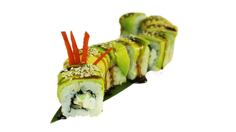 Tiro macro del sushi Restaurante japonés, sushi, tradición oriental fotos de archivo libres de regalías