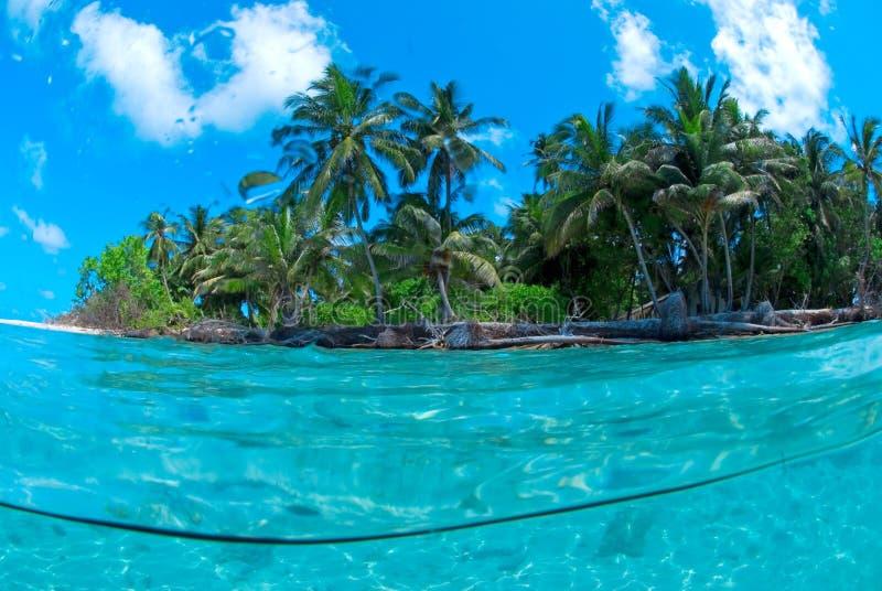 Tiro partido de la isla tropical imagen de archivo