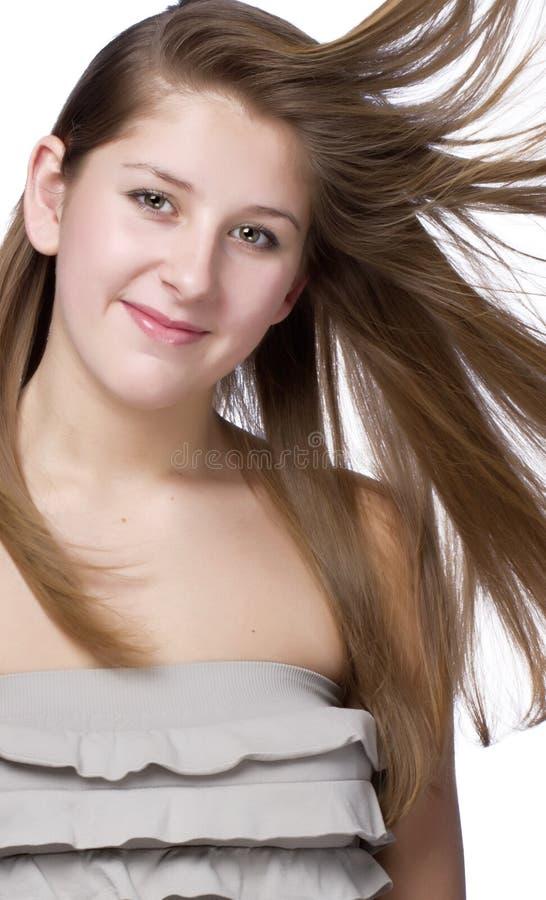 Tiro potato di bella giovane donna fotografia stock libera da diritti