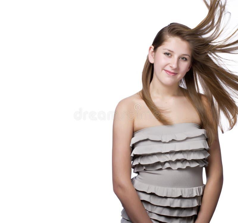 Tiro potato di bella giovane donna immagine stock