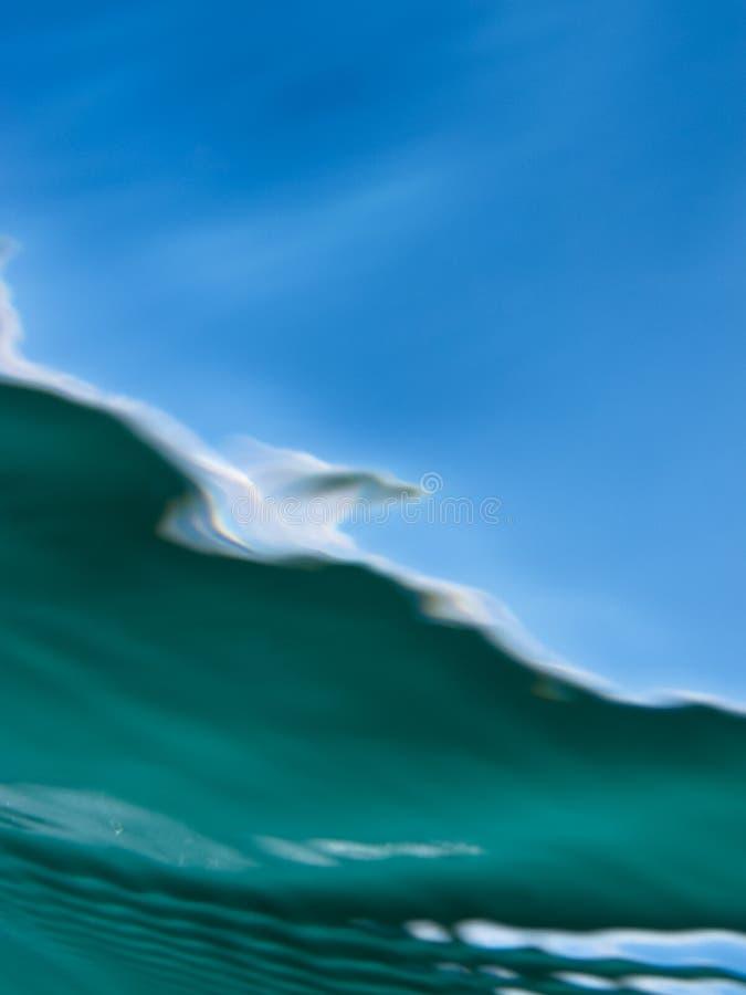 Tiro subaquático através do sumário de superfície da cor foto de stock royalty free
