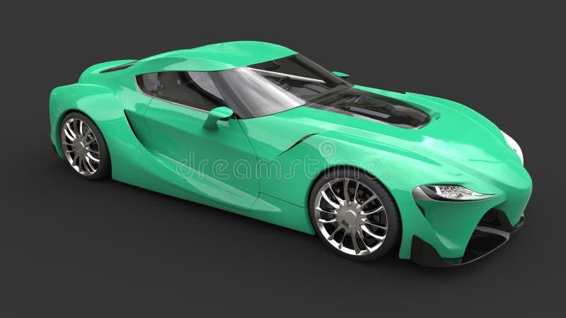 Tiro superior automobilístico do estúdio dos esportes modernos do verde do guppie do divertimento ilustração royalty free