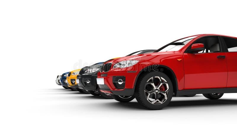 Tiro SUVs da perspectiva fotografia de stock royalty free