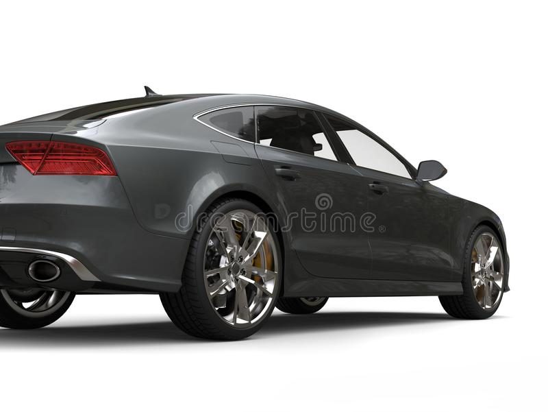 Tiro traseiro automobilístico da beleza da opinião do negócio moderno escuro do cinza de ardósia ilustração royalty free