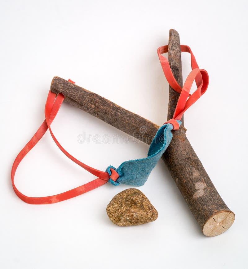 Tiro y roca de honda foto de archivo libre de regalías