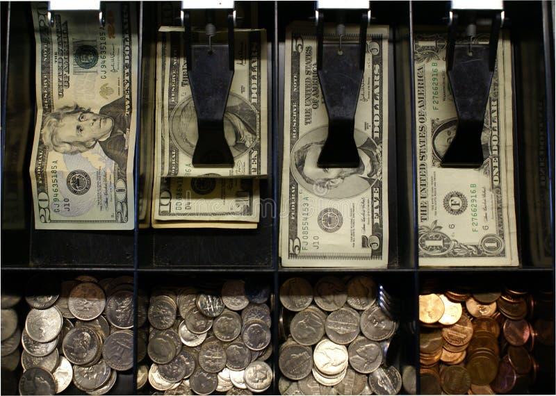 Tiroir d'argent comptant images stock