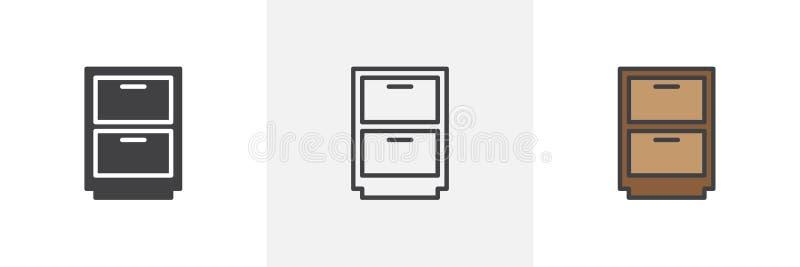 tiroir, icône de placard illustration libre de droits