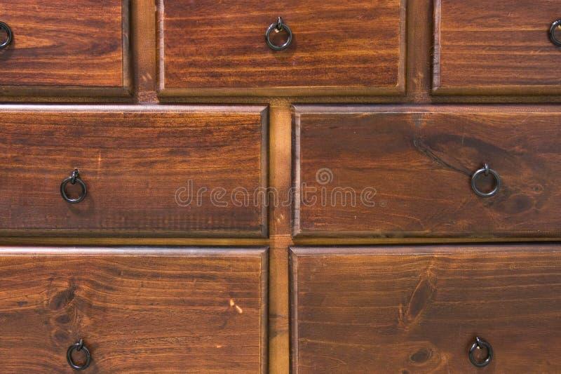 Tiroirs en bois d'une raboteuse photo libre de droits