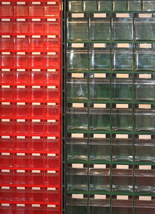 Tiroirs en plastique photos libres de droits