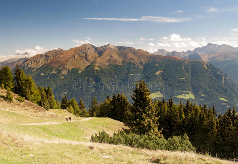 Tirol landscape. Typical landscape, Alps mountain near Brenner Pass by Vipiteno/Sterzing, in South Tirol (Alto Adige royalty free stock images