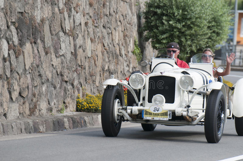 Tirol sul Rallye 2016_ ALVIS Grand Prix Racer Ta fotos de stock royalty free