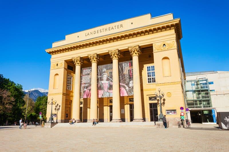 Tiroler Landestheater因斯布鲁克,奥地利 图库摄影