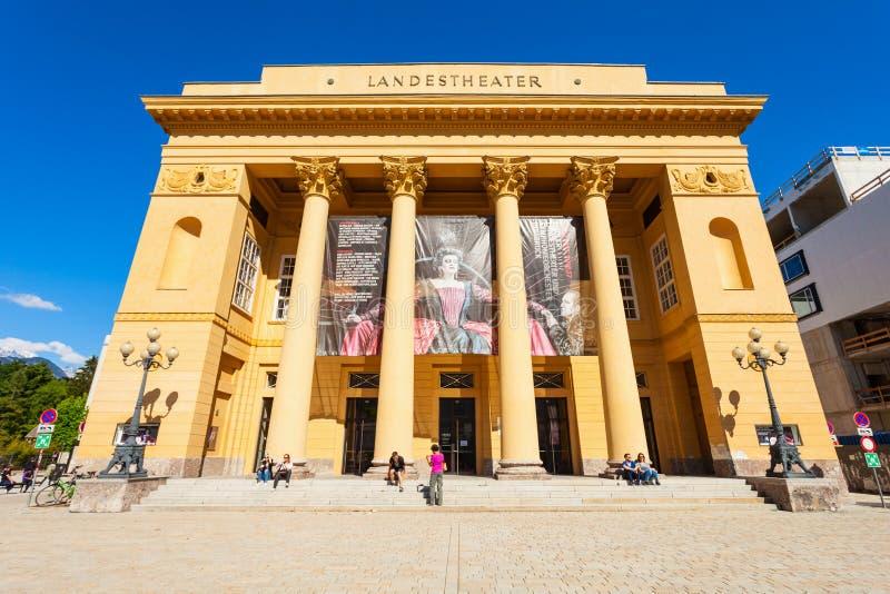 Tiroler Landestheater因斯布鲁克,奥地利 免版税库存图片