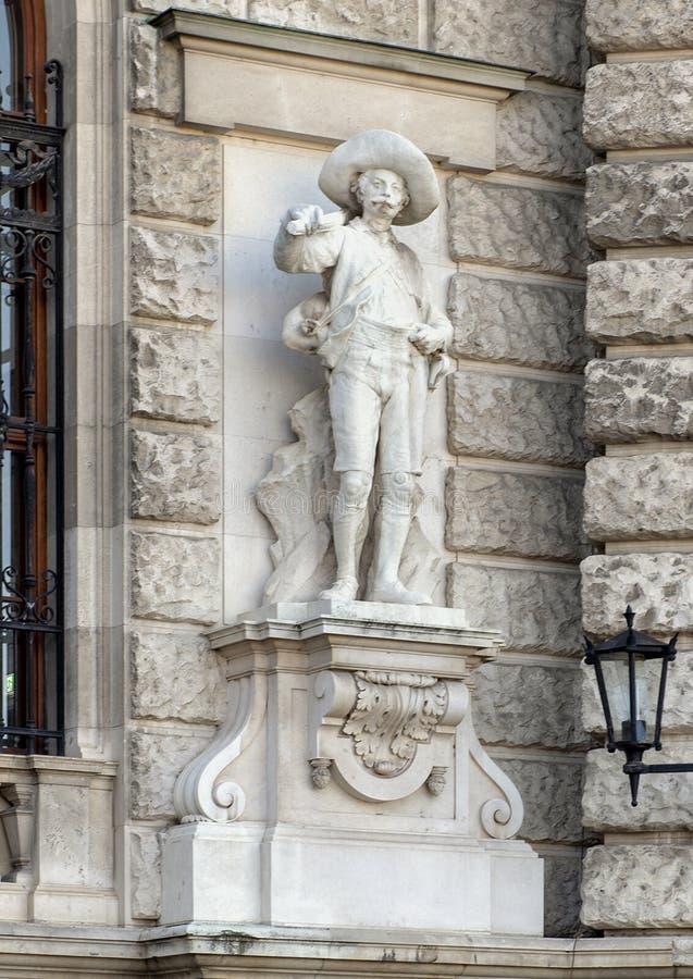 Tiroler oder Tyrolian-Verteidiger durch Johann Silbernagl, Neue-Burg oder New Castle, Wien, Österreich lizenzfreie stockfotografie