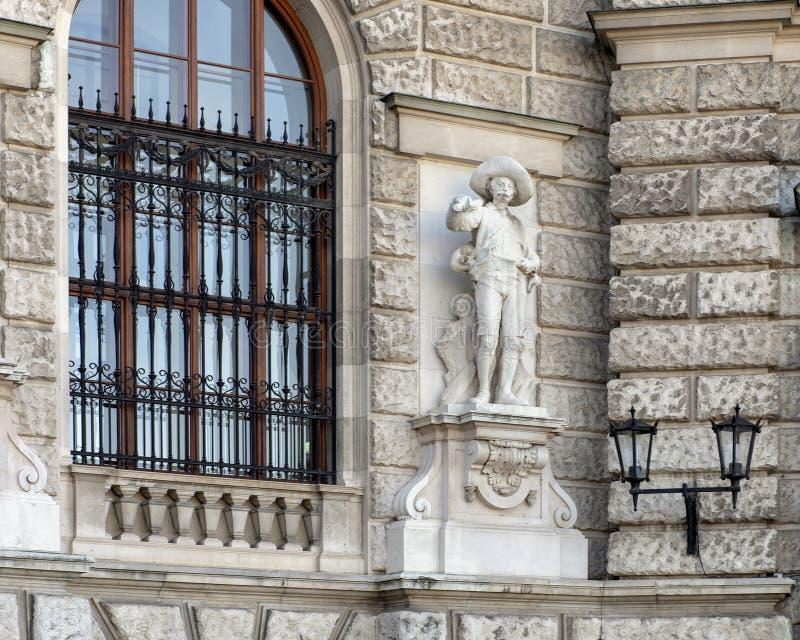 Tiroler oder Tyrolian-Verteidiger durch Johann Silbernagl, Neue-Burg oder New Castle, Wien, Österreich stockfotografie