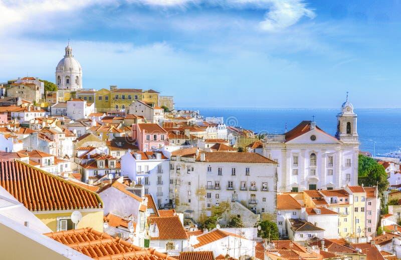 Tiros da cidade de Lisboa, Portugal - curso Europa novembro imagens de stock